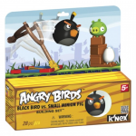 ANGRY BIRDS KNEX BLACK BIRD VS PIG T72044 PAK.4
