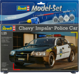 MODEL REVELL CHEVY IMPALA POLICE CAR 1:25 /12 68068
