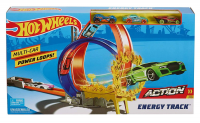 HOT WHEELS ACTION ENERGY TRACK PODWÓJNA PETLA 3xAUTO /4 FKV69